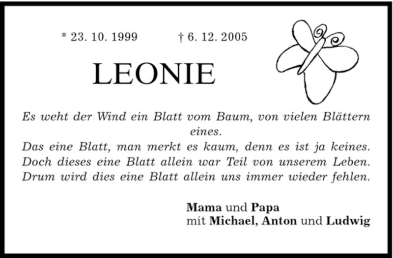 Anzeige von  Leonie Grund