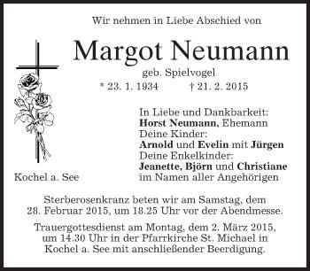 Zur Gedenkseite von Margot