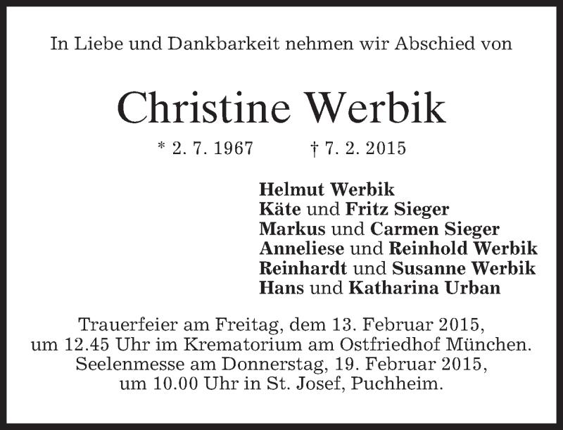 Anzeige von  Christine Werbik