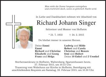 Zur Gedenkseite von Richard Johann