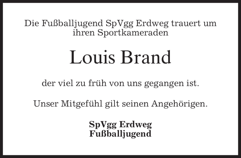Traueranzeige für Louis Tobias Brand vom 17.11.2011 aus MERKUR & TZ