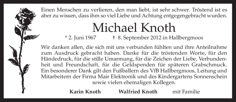Anzeige von  Michael Knoth