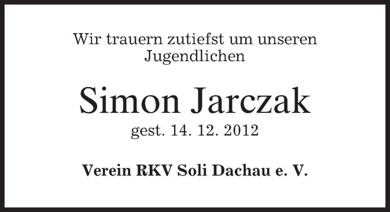 Anzeige von  Simon Jarczak