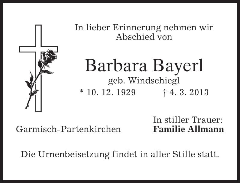 Anzeige von  Barbara Bayerl