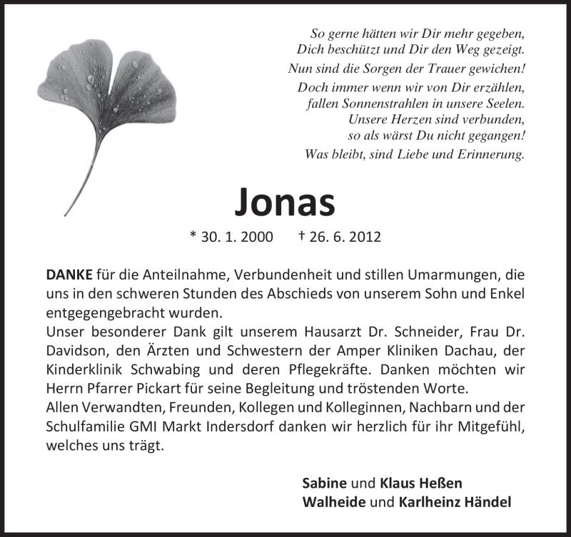 Anzeige von  Jonas Heßen