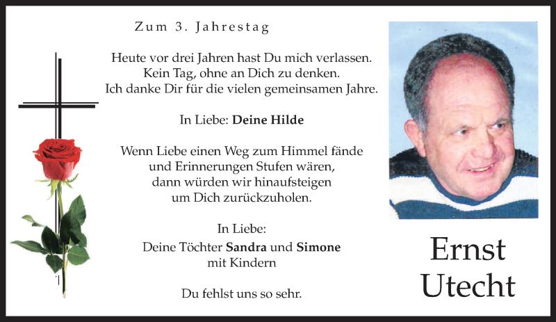 Anzeige von  Ernst Utecht