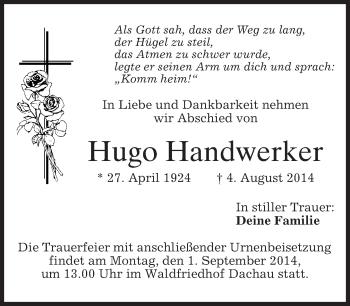 Zur Gedenkseite von Hugo