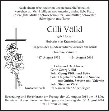 Zur Gedenkseite von Cilli