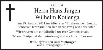 Zur Gedenkseite von Hans-Jürgen Wilhelm