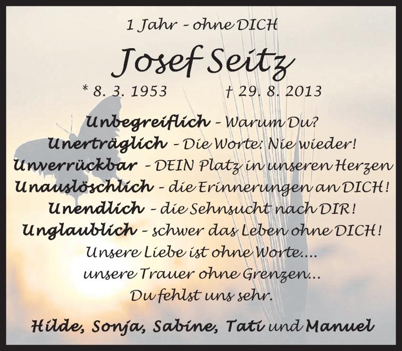 Anzeige von  Josef Seitz
