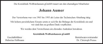 Zur Gedenkseite von Johann
