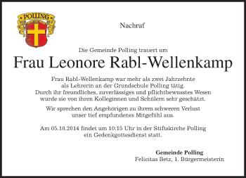 Zur Gedenkseite von Leonore