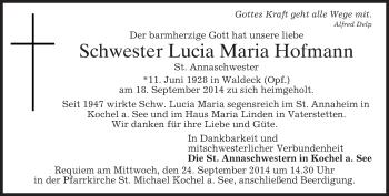 Zur Gedenkseite von Lucia Maria