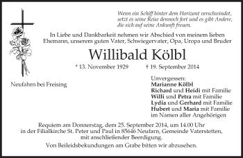 Zur Gedenkseite von Willibald
