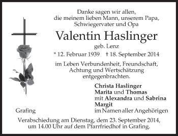 Zur Gedenkseite von Valentin