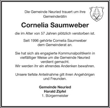 Zur Gedenkseite von Cornelia