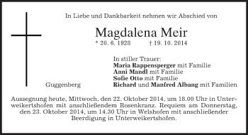 Zur Gedenkseite von Magdalena