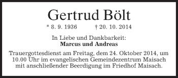 Zur Gedenkseite von Gertrud