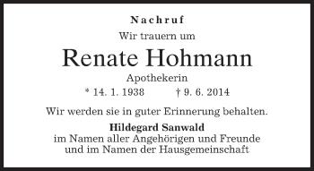 Zur Gedenkseite von Renate