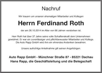 Zur Gedenkseite von Ferdinand