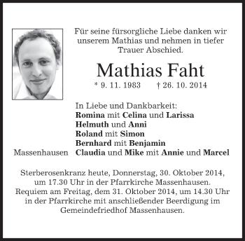 Zur Gedenkseite von Mathias