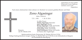 Zur Gedenkseite von Zeno