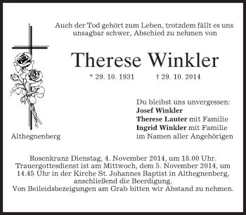 Zur Gedenkseite von Therese