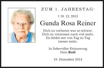 Zur Gedenkseite von Gunda Rosa