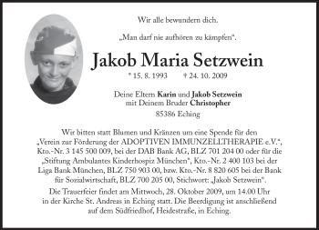 Profilbild von Jakob Maria Setzwein