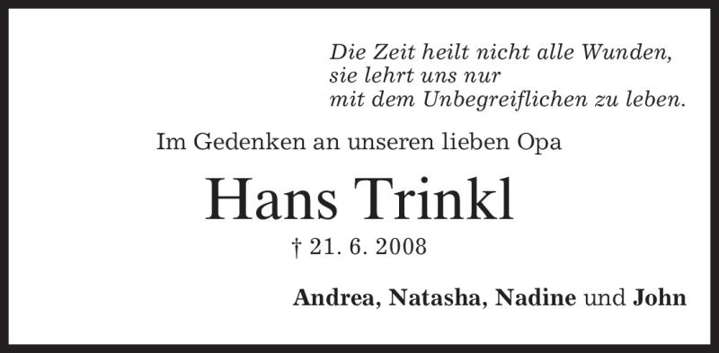 Anzeige von  Hans Trinkl