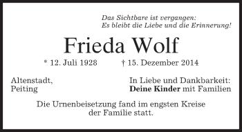 Zur Gedenkseite von Frieda