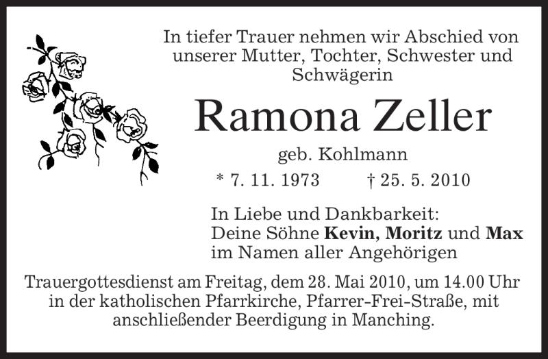 Anzeige von  Ramona Zeller