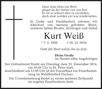 Zur Gedenkseite von Kurt