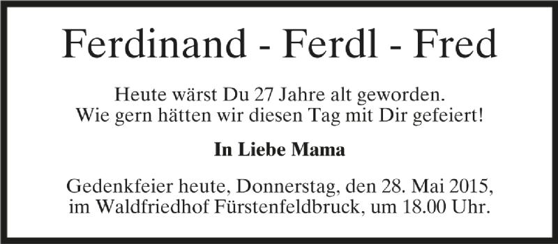Anzeige von  Ferdinand Biber
