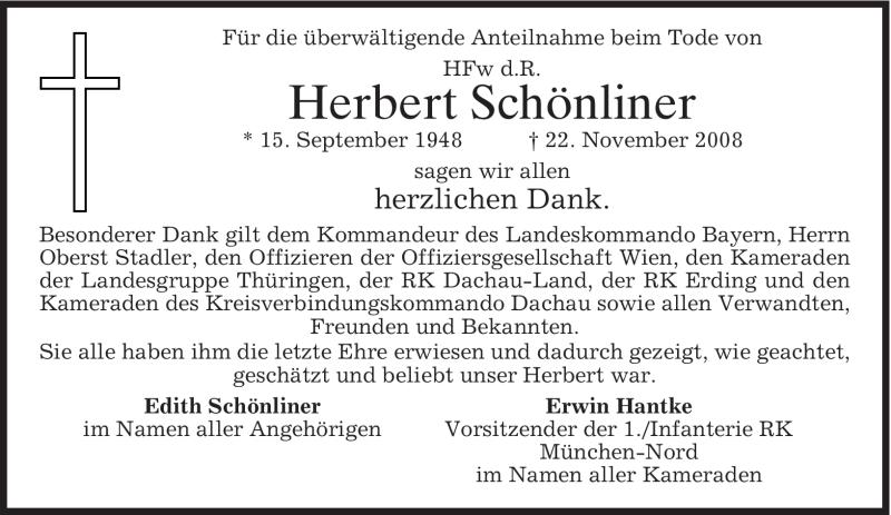 Anzeige von  Herbert Schönliner