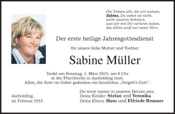 Zur Gedenkseite von Sabine