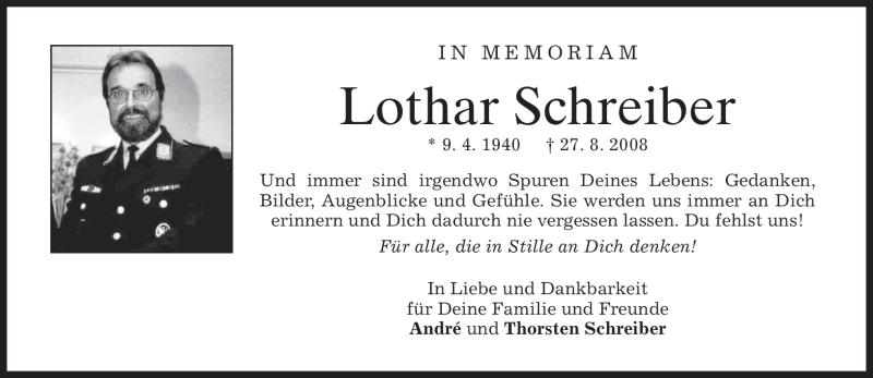 Anzeige von  Lothar Schreiber