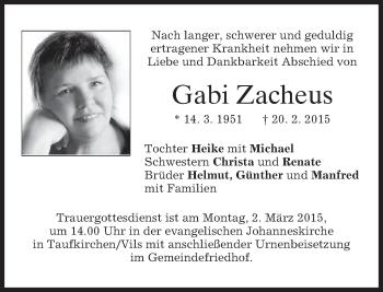 Zur Gedenkseite von Gabi