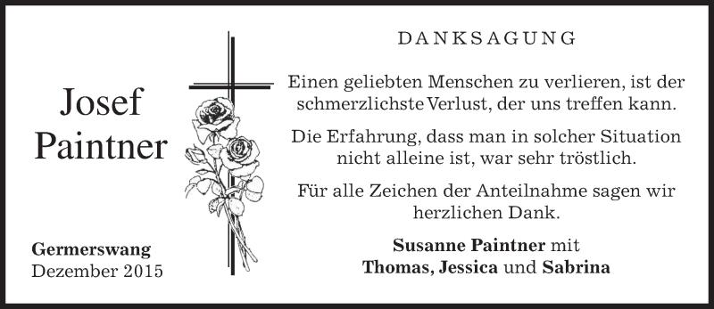 Anzeige von  Josef Paintner