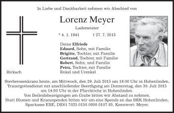 Zur Gedenkseite von Lorenz