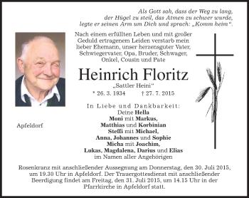 Zur Gedenkseite von Heinrich