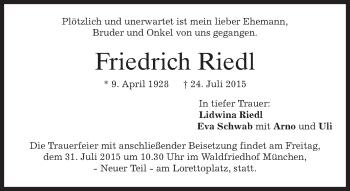 Zur Gedenkseite von Friedrich