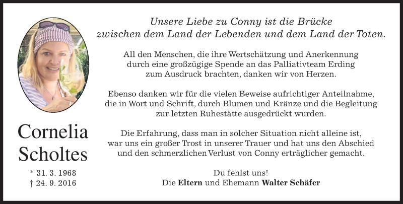 Anzeige von  Cornelia Scholtes
