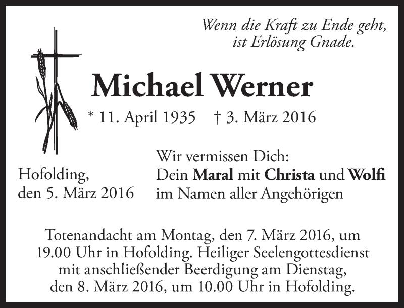 Anzeige von  Michael Werner