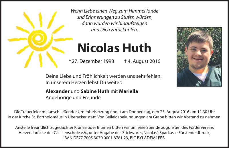 Anzeige von  Nicolas Huth