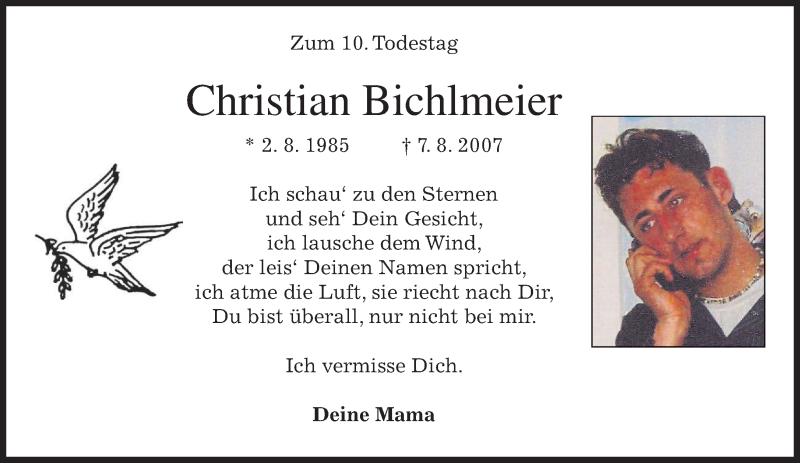 Anzeige von  Christian Bichlmeier