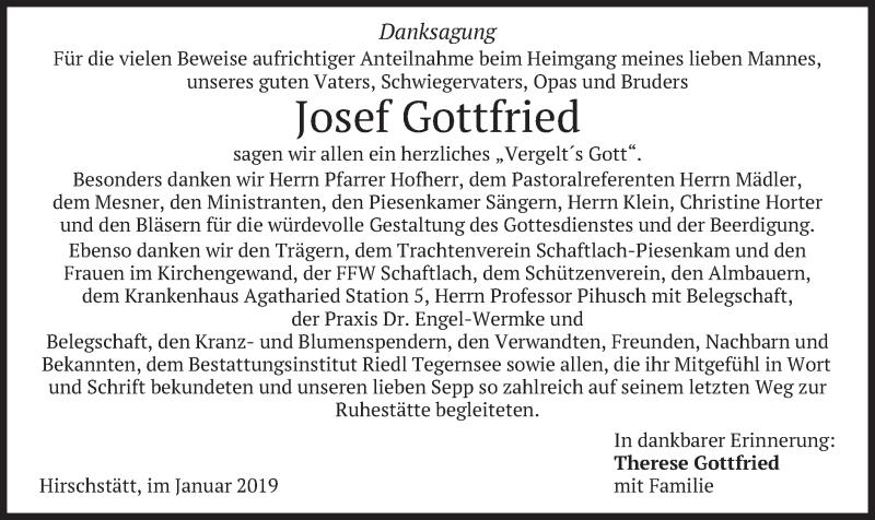 Anzeige von  Josef Gottfried