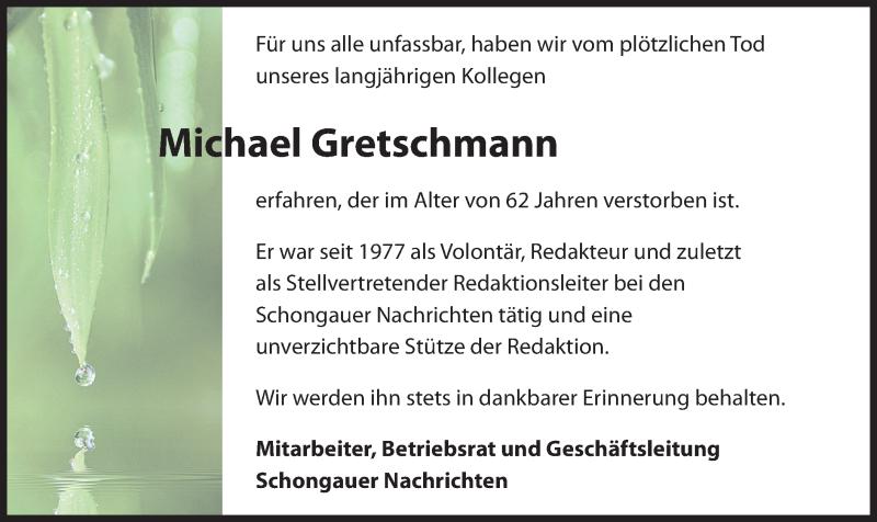Traueranzeige für Michael Gretschmann vom 02.12.2019 aus merkurtz