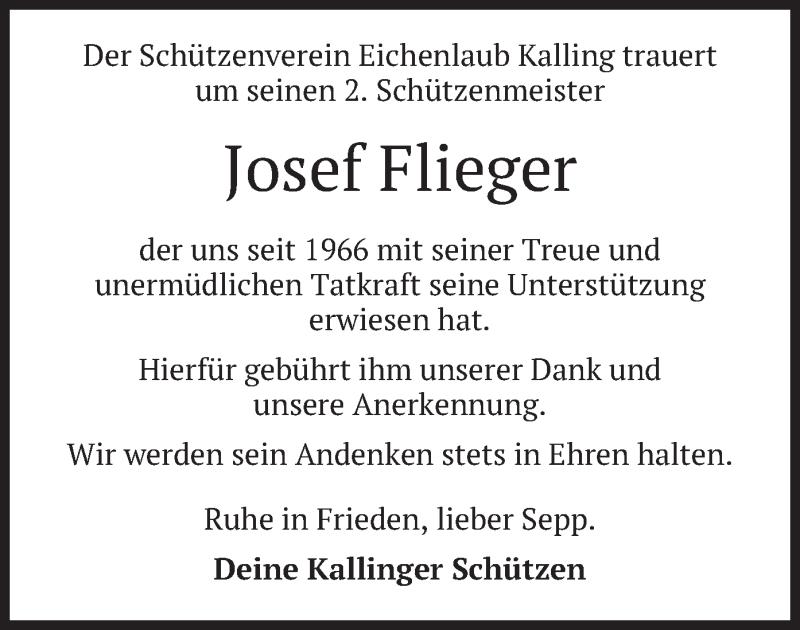 Traueranzeige für Josef Flieger vom 12.06.2019 aus merkurtz