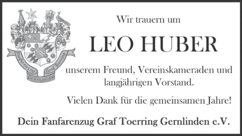 Traueranzeige für Leonhard Huber vom 07.09.2019 aus MERKURTZ